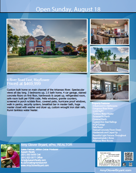 Open House Sunday, August 18