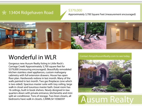 Open House: 13404 Ridgehaven