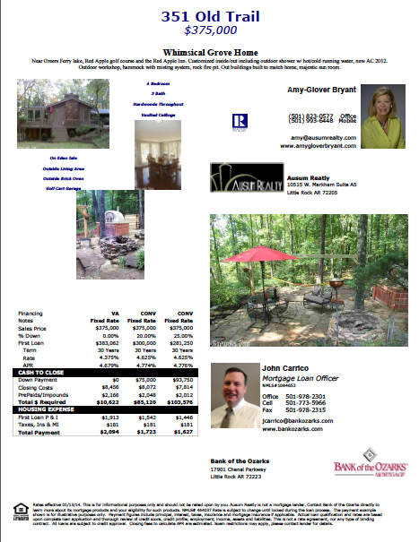 Financing Options: 351 Old Trail, Heber Springs
